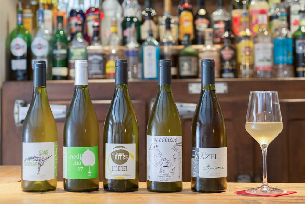 Selection de vins 'nature' blanc